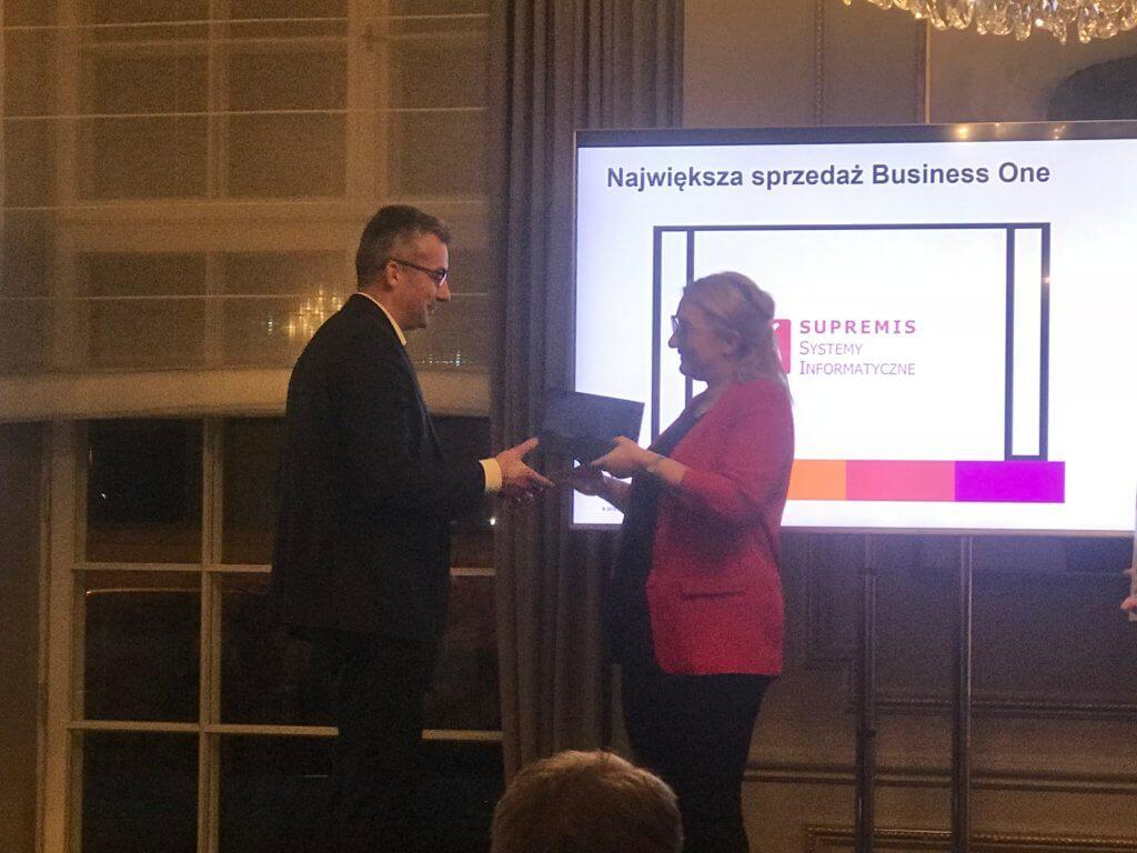 SUPREMIS najlepszym partnerem SAP Business One w 2017
